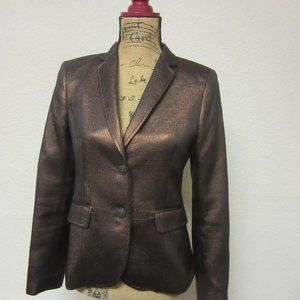Rag & Bone Copper Bailey Metallic Blazer Women's 4